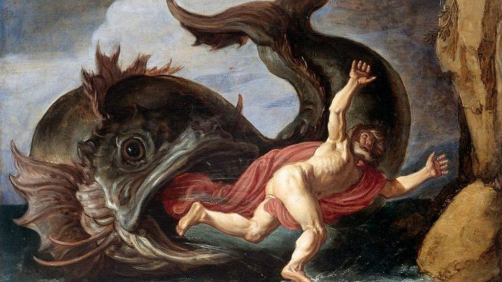 خروج یونس پیامبر از شکم نهنگ